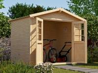 Weka Gartenhaus 218 Größe 1 mit Doppeltür 28 mm wekaLine natur