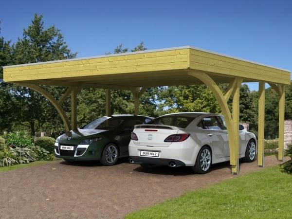 Skan Holz Carport Friesland Set 8