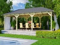 Karibu 4-Eck Pavillon Eco Perida 2