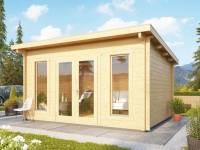 Karibu Gartenhaus Stavanger 3 Blockbohle 70 mm