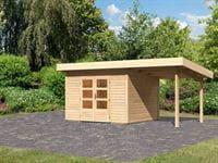 Karibu Woodfeeling Gartenhaus Northeim 2 mit Anbaudach 2,00 Meter