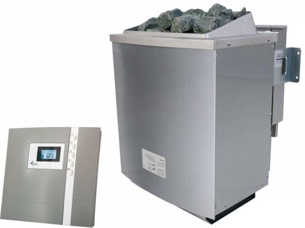 Karibu Bio-Kombiofen 9,0 kW externe Steuerung Premium und Steine