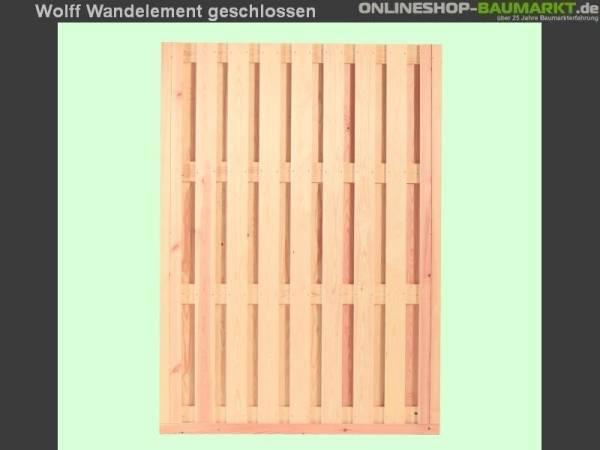 Wolff Finnhaus Wandelement geschlossen Kreta 8 XL