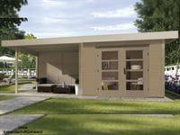 Weka Gartenhaus 126 Plus Gr. 1 mit Anbaudach 300 cm
