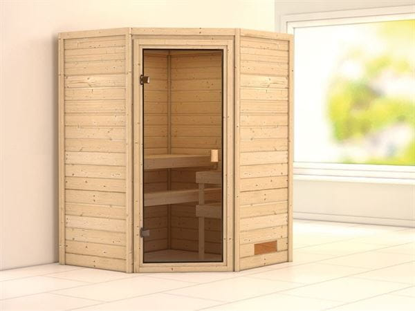 Karibu Sauna Franka 38 mm ohne Dachkranz- ohne Ofen
