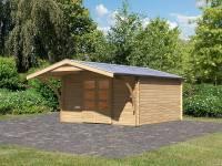 Karibu Gartenhaus Bayreuth 6 mit Vordach