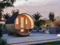 Wolff Finnhaus Saunafass 250 montiert