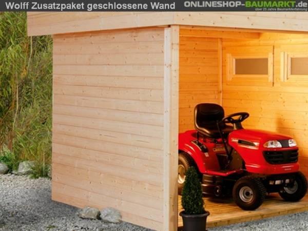 Wolff Finnhaus Zusatzpaket geschlossene Wand für Maja