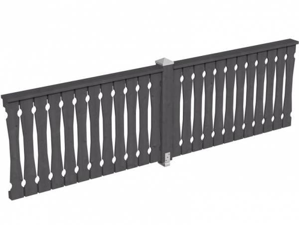 Skan Holz Brüstung für Pavillons 335 cm Balkonschalung in schiefergrau