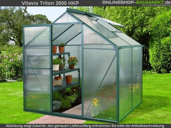 Vitavia Gewächshaus Triton 2500 HKP 6 mm dunkelgrün