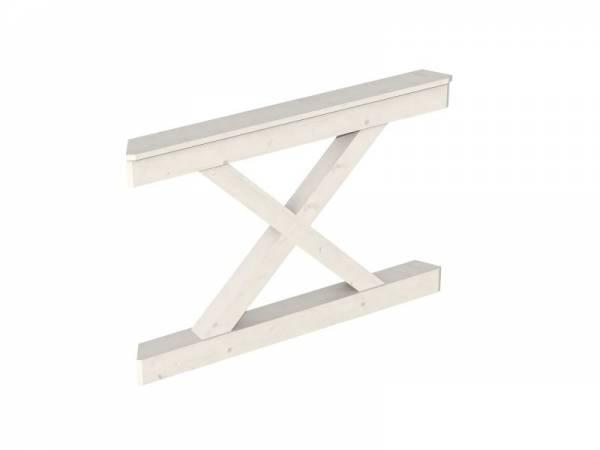 Skan Holz Brüstung für Pavillons 120 cm Andreaskreuz in weiß