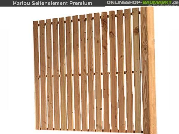 Karibu Seitenwand für Überdachung Premium Größe 1