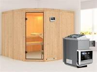 Simara 3 - Karibu Sauna inkl. 9-kW-Ofen - ohne Fenster -