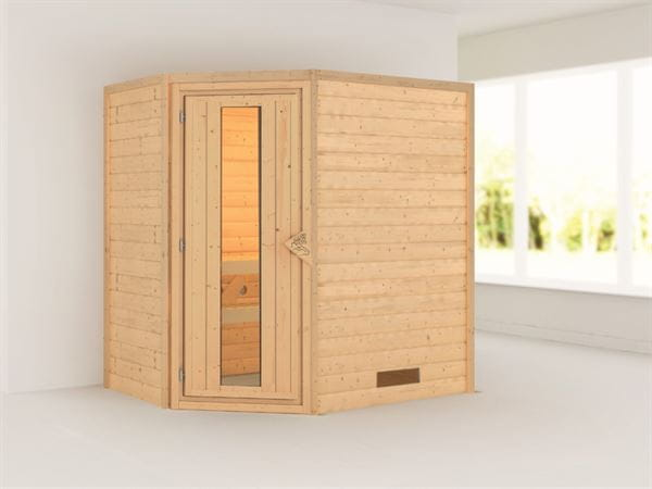 Cilja - Karibu Sauna Plug & Play ohne Ofen - ohne Dachkranz - Energiespartür
