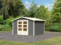 Karibu Woodfeeling Gartenhaus Amberg 4 terragrau