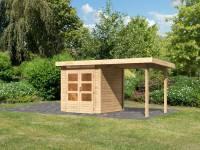 Karibu Woodfeeling Gartenhaus Kandern 1 mit Anbaudach 2,35 cm
