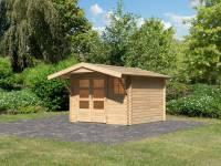 Karibu Woodfeeling Gartenhaus Blockholm 2 inkl. Vordach