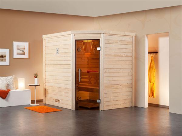 Weka Aktions-Sauna Terra 58 mm inkl. 7,5 kW Bioofen