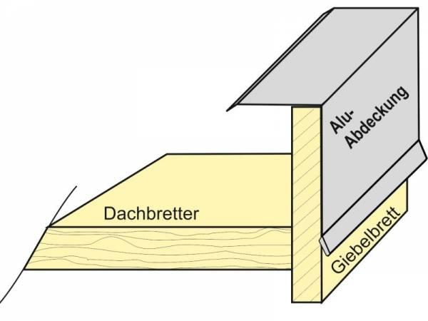 Aluminium Winkelprofil 200 cm Ortblech für Carport-Blenden