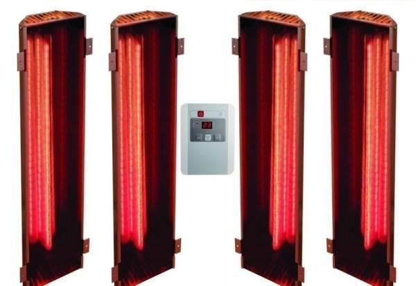 Karibu Vitamy-Strahler Set B Infrarot-Strahler 2 x 350 Watt, 2 x 750 Watt