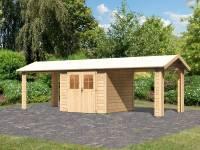 Karibu Gartenhaus Espelo 3 mit zwei Dachausbauelementen 2,70 m