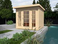 Weka Gartenhaus wekaLine 172 Größe 2 natur E-Glastür und 2 Fensterpaneele