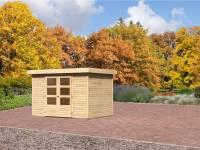 Karibu Aktions-Gartenhaus Jever 4 natur inkl. Fußboden