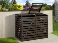 Weka Mülltonnenbox für 2 Tonnen in anthrazit