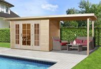 Weka Gartenhaus wekaLine 172 Größe 1 natur E-Glastür 2 Fensterpaneele Anbau 300 cm