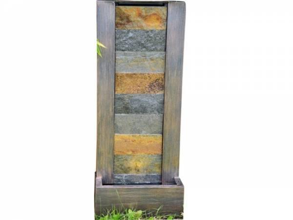 Granimex DAO Naturstein-Wasserwand inkl. Pumpe, LED-Beleuchtung