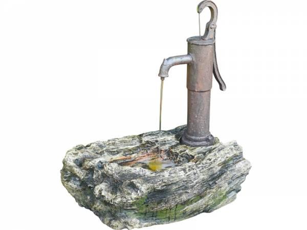 Granimex Ligno Schwengelpumpen-Brunnen - inkl. Pumpe und LED-Beleuchtung