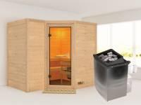 Sahib 2 - Karibu Sauna inkl. 9-kW-Ofen - ohne Dachkranz -