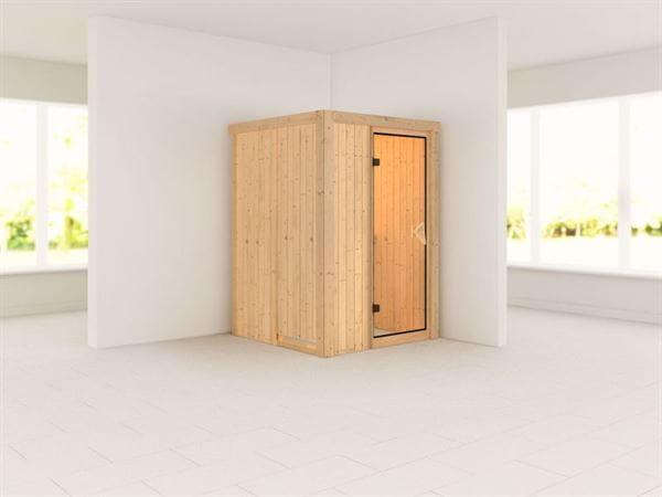 Lenja - Karibu Sauna Plug & Play ohne Ofen - ohne Dachkranz -