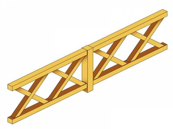 Skan Holz Brüstung für Pavillons 335 cm Andreaskreuz
