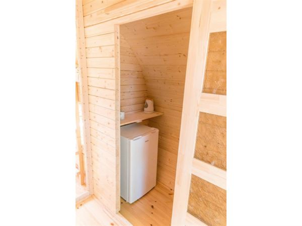 Wolff Finnhaus Campingfass Mega: zusätzliche Wand mit Schiebetür