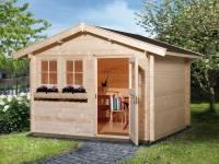 Weka Gartenhaus 139 Gr. 2 Vordach 20 cm