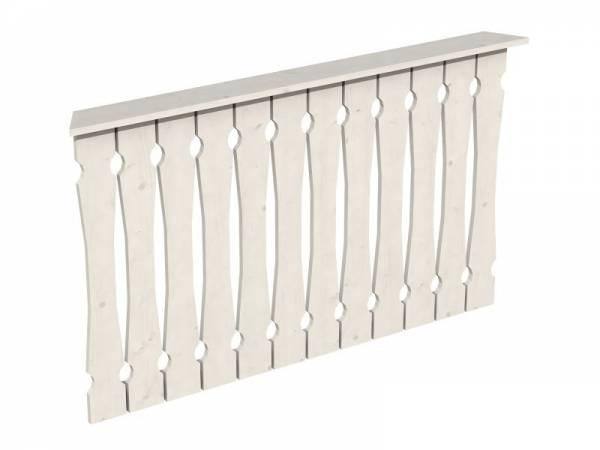 Skan Holz Brüstung für Pavillons 150 cm Balkonschalung in weiß