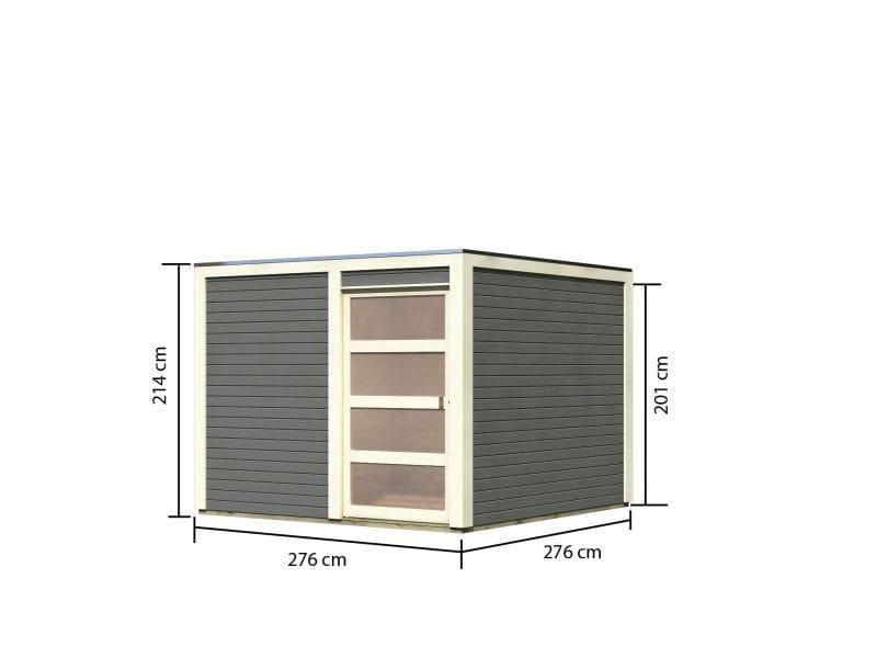 Gartenhaus Fußboden Versiegeln ~ Karibu gartenhaus bolton terragrau inkl fußboden