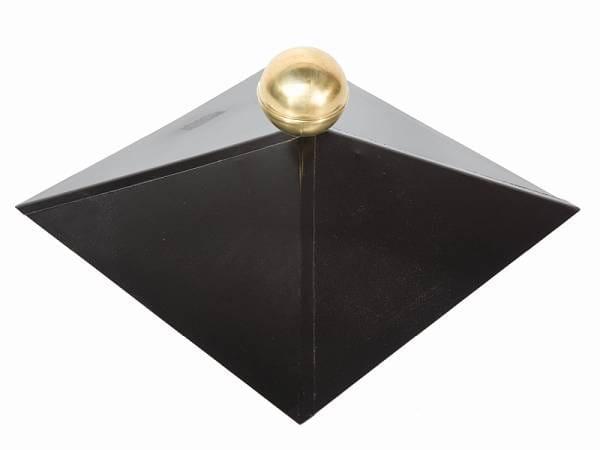 Wolff Finnhaus Dachhaube 4-eckig Messing