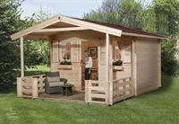 Weka Gartenhaus 138 Gr. 1 mit Vordach und Terrasse