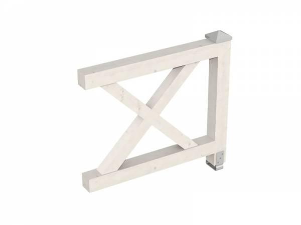 Skan Holz Brüstung für alle Pavillons Andreaskreuz in weiß
