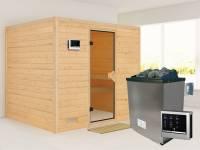 Sonara - Karibu Sauna inkl. 9-kW-Ofen - ohne Dachkranz -