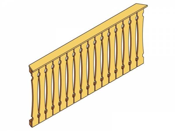 Skan Holz Brüstung für Pavillons 210 cm Balkonschalung