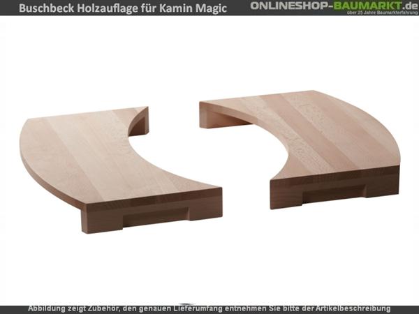 Buschbeck Holzauflage 2er-Set für Grillkamin Magic