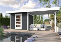 Weka Gartenhaus wekaLine 172 B Größe 1 anthrazit Anbau 300 cm