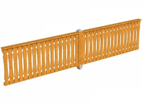 Skan Holz Brüstung für Pavillons 465 cm Balkonschalung in eiche hell