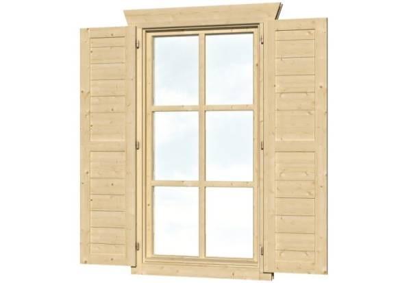 Skan Holz Fensterläden Einzelfenster hoch beidseitig