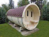 Wolff Finnhaus Saunafass 400 als Bausatz