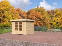 Karibu Aktions Gartenhaus Jever 3 natur 19 mm