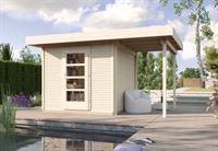 Weka Gartenhaus wekaLine 172 Größe 3 natur Anbau 150 cm